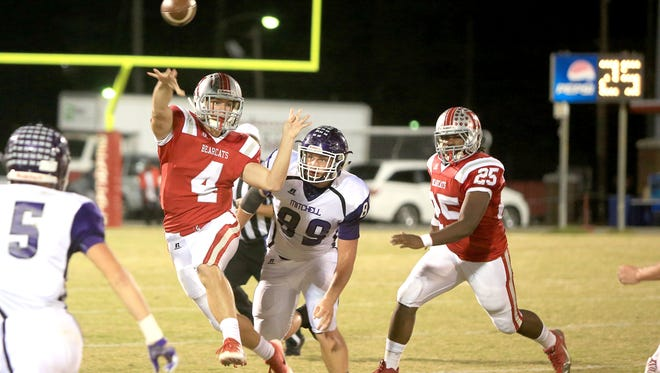 Hendersonville's Alex Williford (4) has passed for 2,046 yards after Friday's win at Owen.