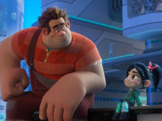 "Ralph and Vanellope' are pals in ""Ralph Breaks the"