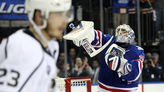 Goalie Henrik Lundqvist helped carry the New York Rangers to the Stanley Cup Final.