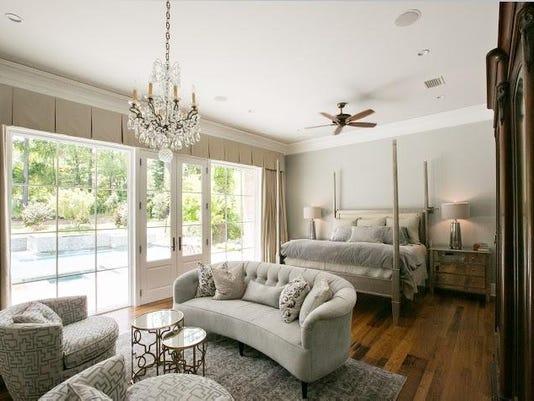 Jamey Briggs - by Mary Ann Elston - Master bedroom featuring custom-designe