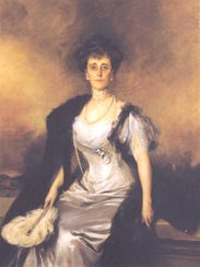 A portrait of Ruth Livingston Mills that hung in a