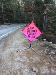 Fobert took this photograph of a sign warning drivers
