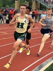 David Mitter (4) set the Howell record in the 3,200