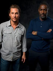 Matthew McConaughey, left, and Idris Elba pose for a portrait at New York's Whitby Hotel.