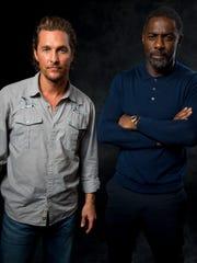 Matthew McConaughey, left, and Idris Elba pose for