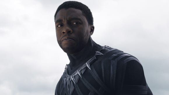 Black Panther (Chadwick Boseman) struggles with a mission