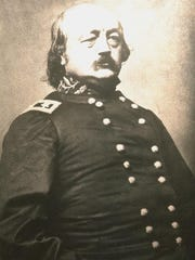 """Gen. Benjamin F. Butler, from """"Divided We Fought: A Pictorial History of the War 1861-1865,"""" H. D. Milholland. In 1862, canal schooner General Butler was built at Essex, New York, on Lake Champlain and named for the Union officer who commanded New England troops. Preserved beneath the waters of Burlington Bay, the shipwreck General Butler is one of Lake Champlain's Underwater Historic Preserves, popular with visiting scuba divers and ROV shipwreck tours."""