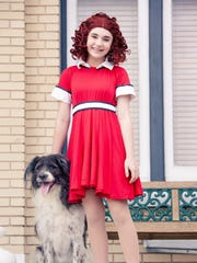 Annie and faithful dog Sandy in Quincy Music Theatre's