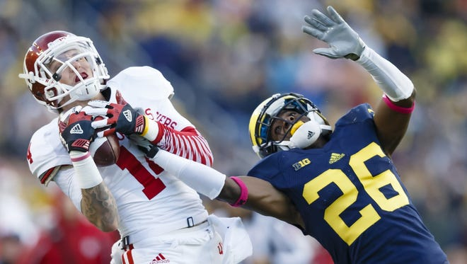 Michigan defensive back Jourdan Lewis plays against Indiana in 2014.