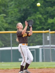 North Farmington second baseman Molly Simpson catches the pop up.