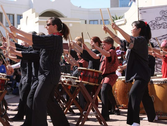 Fushicho Daiko perform a style of Japanese drumming