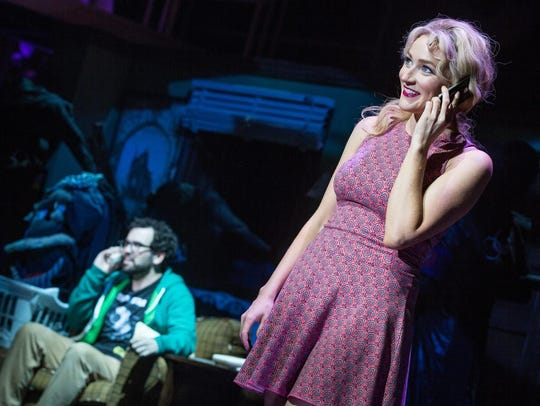 "Betsy Wolfe in a scene from ""Up Here"" at La Jolla Playhouse"