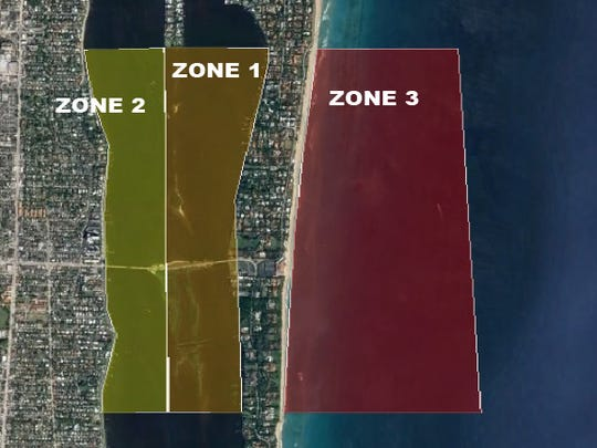 The Coast Guard will establish security zones in the Indian River Lagoon and offshore near Palm Beach Tuesday.
