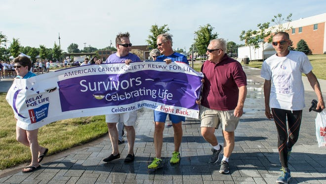 East Polk County Relay for Life was held in Altoona June 10 in the Civic Plaza. The event raises money for those affected by cancer. The walk begins.