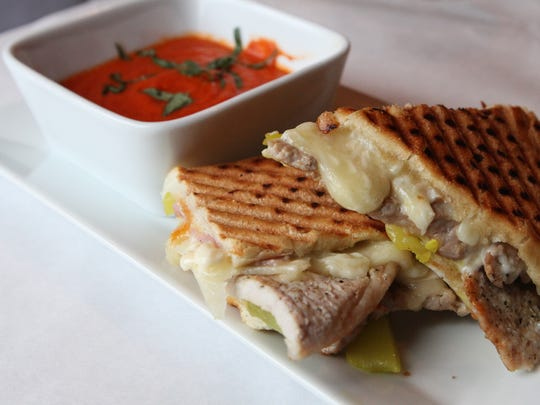 Complete a grilled sandwich dinner with a warm bowl of tomato soup. The combination is perfect for rainy days or when you're pressed for time.