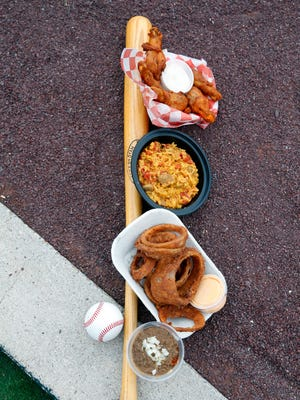 Rochester Red Wings ballpark food at Frontier Field.
