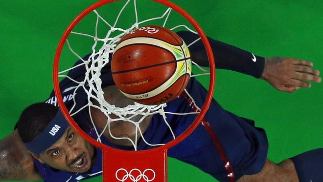 American forward Carmelo Anthony is looking to complete Team USA's quest for a basketball gold medal.