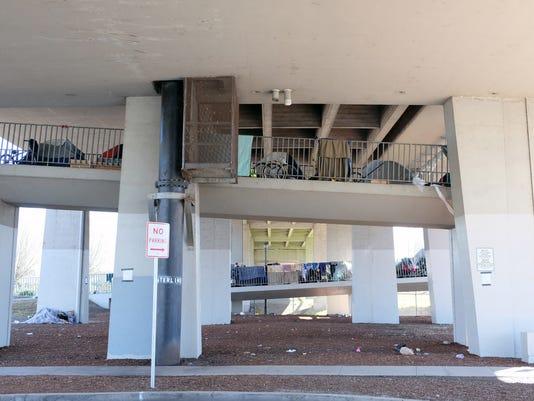 homeless center street bridge