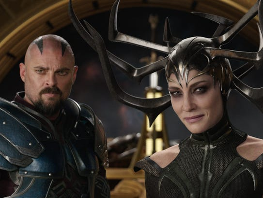"""Karl Urban and Cate Blanchett in a scene from """"Thor:"""