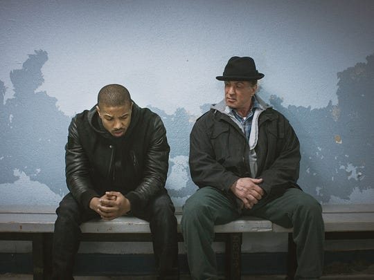 """Michael B. Jordan as Adonis Johnson and Sylvester Stallone as Rocky Balboa in  """"Creed."""""""
