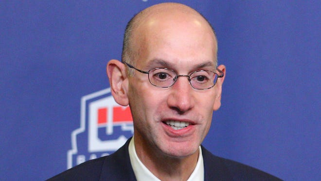 NBA commissioner  Adam Silver said Monday the league will look at its domestic abuse policy.