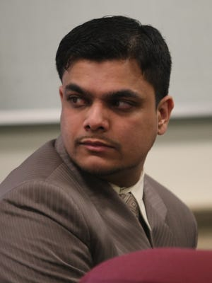 In this July 23, 2012, file photo, Kashif Parvaiz appears before Judge Robert Gilson in the Morris County Court House.