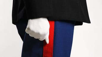 Cropped side view of United States Marine