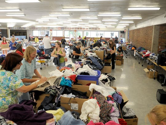 Apollo High School hosted a fundraiser garage sale on Thursday that continues Friday. All the proceeds will go to programs previously housed at Roosevelt Education Center, which was affected by a fire.