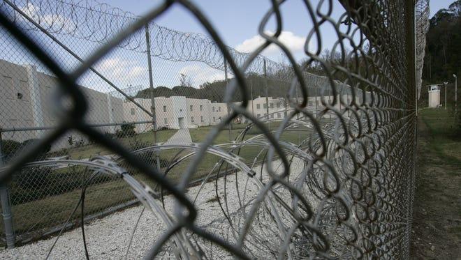 The gates of the Louisiana State Penitentiary in Angola, La.