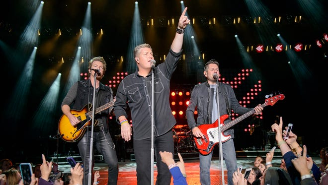 Rascal Flatts perform at the Jones Beach Theater in Wantagh, New York, in 2014. The band will resume its residency at The Joint at the Hard Rock Hotel & Casino on Feb. 17 through March 5 in Las Vegas.