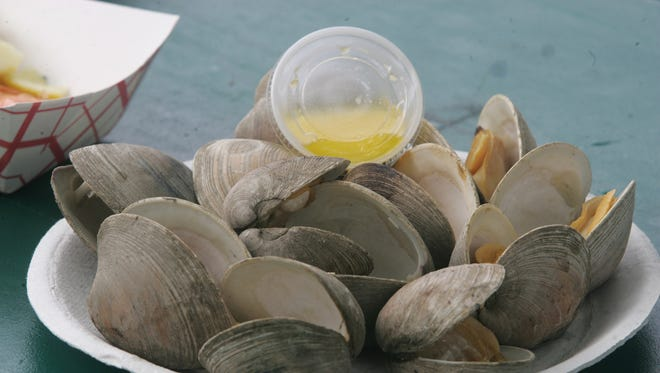 A scene from the annual Clamfest in Highlands.