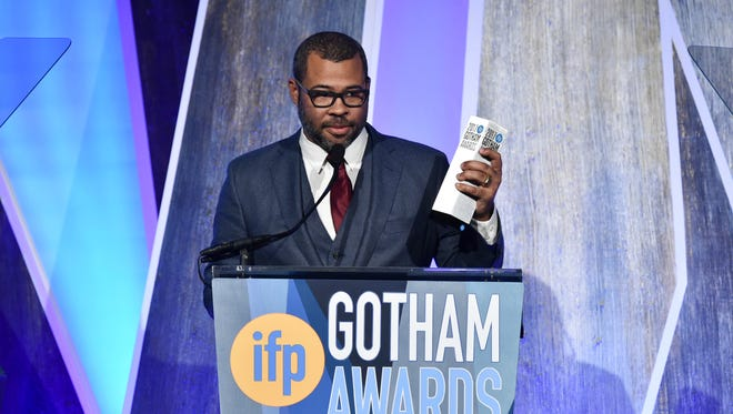 Director Jordan Peele, seen here accepting an award for his film, 'Get Out,' will serve as an executive producer of the CBS All Access reboot of 'The Twilight Zone.'