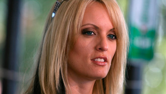 This July 3, 2009, file photo shows adult movie star Stormy Daniels at Rooster's Country Bar in Delhi, La.