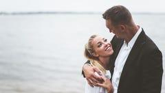 Sam Dekker and Olivia Harlan share photos from their weekend wedding in Door County