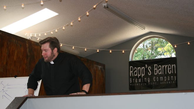 Associate Pastor Thomas Presley of Redeemer Lutheran Church discusses the importance of relationships as described in the Book of Genesis. Presley hosts a Pub Theology Bible study event the four Friday of each month at Rapp's Barren Brewing Company.