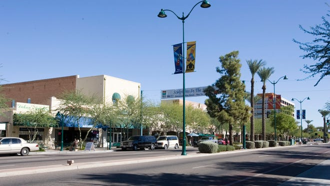 Main Street in Downtwon Mesa.