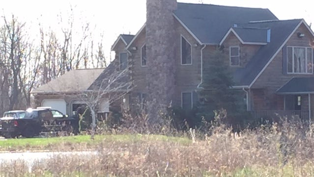 This house was raided Tuesday by the Morrow County Sheriff's deputies in search of squatters.