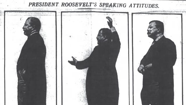 President Theodore Roosevelt spoke Sept. 23, 1902, from the balcony of The Columbia Club in Downtown Indianapolis.