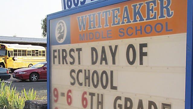 Whiteaker Middle School in 2011.