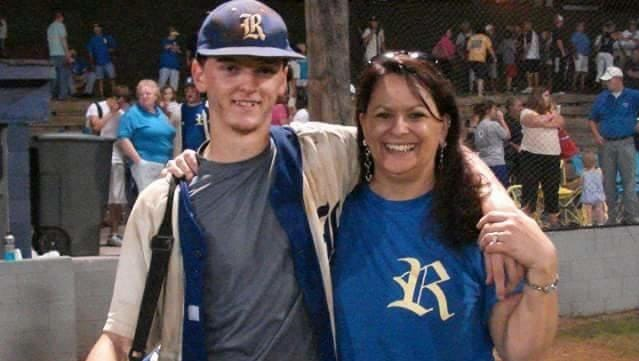 Gloria Gant and her late son, Stephen, after a baseball game at Riverside High School. Gant pitched for the Panthers from 2009 until his death in April 2012.