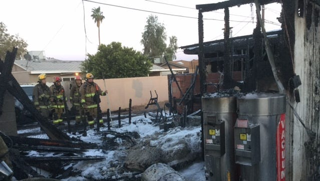 About 20 Phoenix firefighters had to fight to extinguish a house fire in the area of 49th and Clarendon avenues on Sunday evening, May 29, 2016.