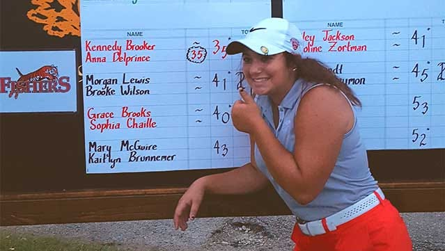 Fishers' golfer Anna DelPrince