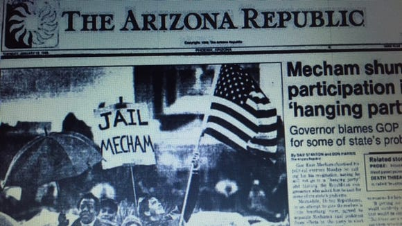 Front page from Arizona's 'alt fact' days