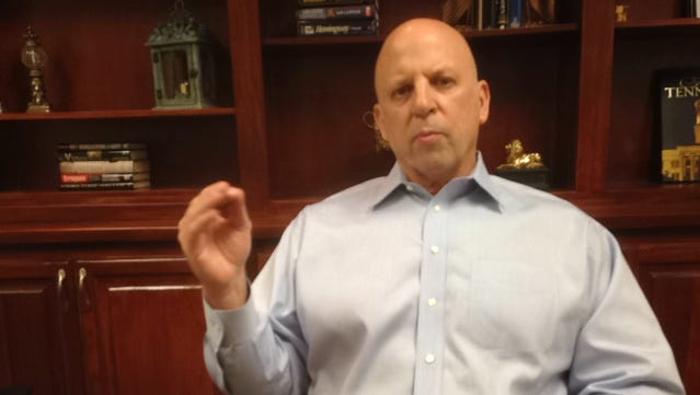 U.S. Rep. Scott DesJarlais speaks during an interview Thursday (Feb. 23, 2017) at the Republican lawmaker's office on West Main Street in Murfreesboro.