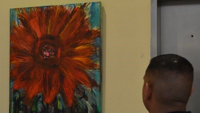 Two new pieces from George Mendoza are on display at the Doña Ana County Government Center.