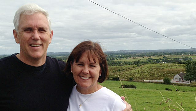 Indiana Governor Mike Pence and  First Lady Karen Pence and their three children traveled to Ireland in 2013 to learn more about the family's Irish roots.