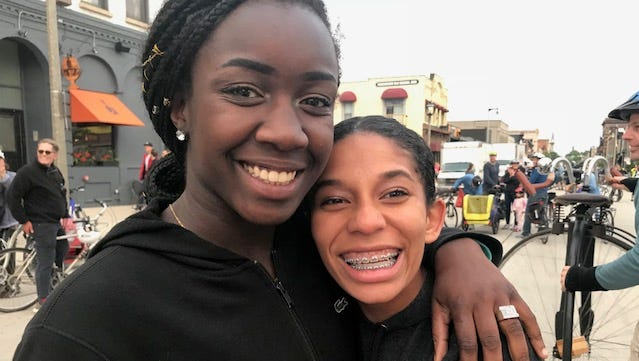 Sixteen-year-old Teenasia Scobey-Polacheck (left) has been missing since July 1, when she presumably ran away from her Glendale home. She is pictured with her sister Jamie.