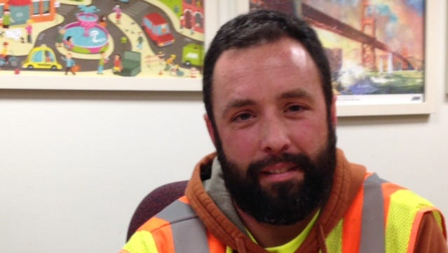 The snowplow driven by Josh Berkley, a city of Des Moines operator, was hit last winter by a driver traveling too fast for the road conditions.