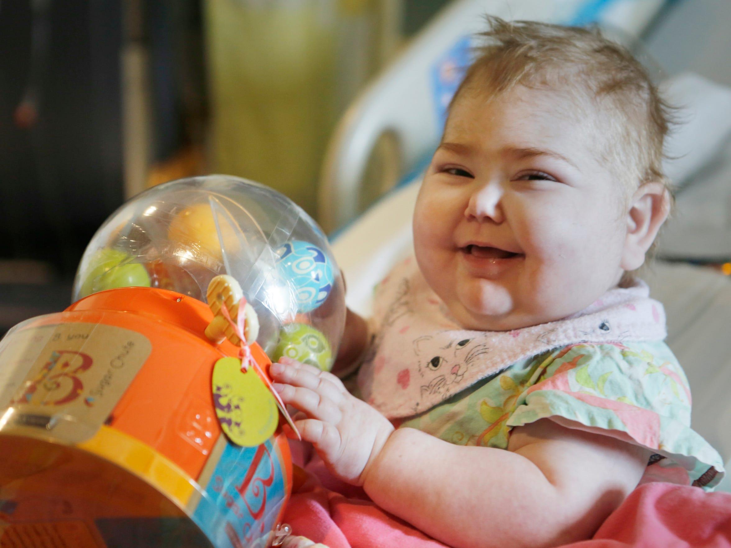 Eliza Miller, 2, has a rare autoimmune disease, for