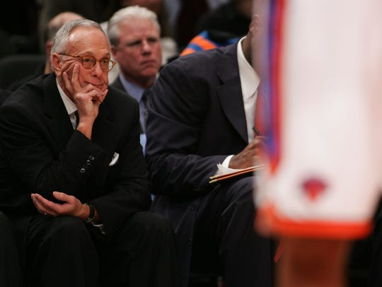 Larry Brown, left, coached the Knicks just one season